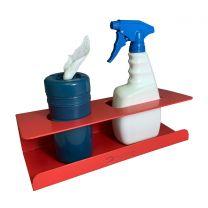 Detectable Wipe Dispenser and Spray Bottle Holder